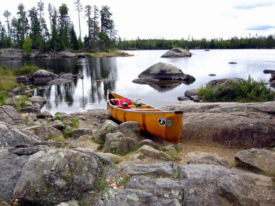 Stopping for a poo break in the Boundary Waters of MN